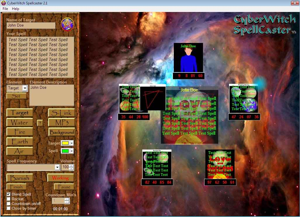 Radionics Software CyberWitch Spell Caster Manifestation Software