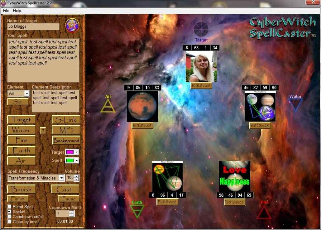 Radionics software Cyberwitch spellcaster 2.2