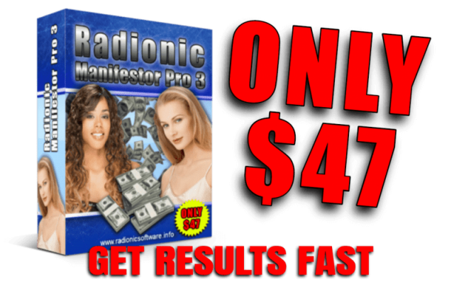 manifestation software radionic software Only 47 dollars